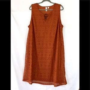Size 3X Tacera Burnt Orange Dress